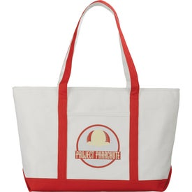 Premium Heavy Weight Cotton Zippered Boat Tote with Your Slogan