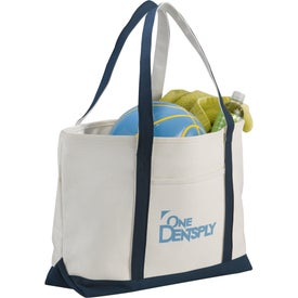 Premium Cotton Canvas Zippered Boat Tote Bag