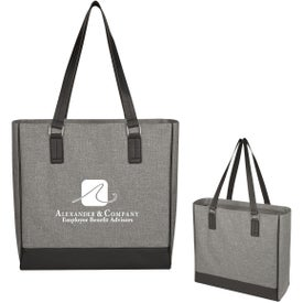 Classy Heathered Tote Bag