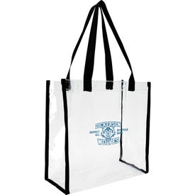 Monogrammed Clear Game Tote Bag
