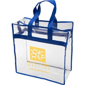Clear PVC Zipper Tote Bag