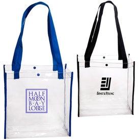 Monogrammed Clear Stadium Tote Bag