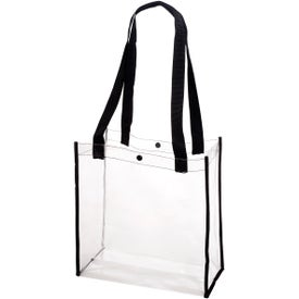 Clear Stadium Tote Bag Printed with Your Logo