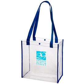 Printed Clear Stadium Tote Bag