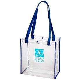 Printed Clear Stadium Tote Bag