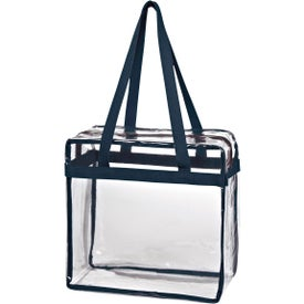 Promotional Clear Tote Bag with Zipper