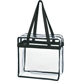 Clear Tote Bag with Zipper Giveaways