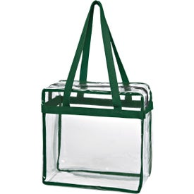 Branded Clear Tote Bag with Zipper