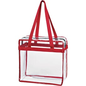 Clear Tote Bag with Zipper with Your Logo