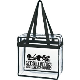 Clear Tote Bag with Zippers