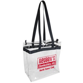 Clear Vinyl Tote with Zipper Bag