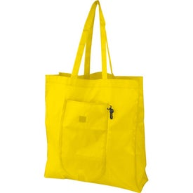 Branded Clip-On Fold-Up Tote Bag
