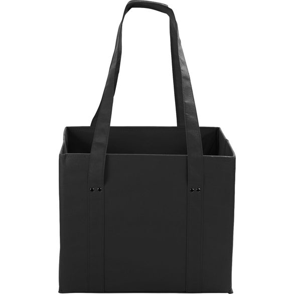 Black Collapsible Cube Storage Tote Bag