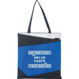 Color Angle Non-Woven Convention Tote Bag
