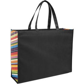 Non-Woven Color Burst Expo Tote Bag with Your Slogan