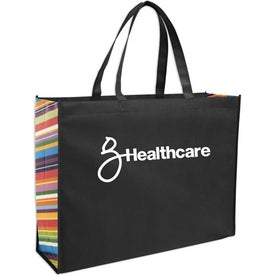 Non-Woven Color Burst Expo Tote Bag for Your Organization