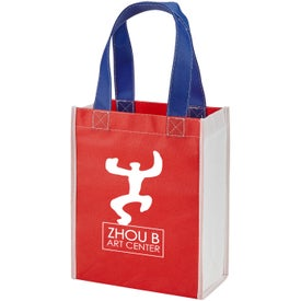 Color Combination Non-Woven Gift Tote Bag