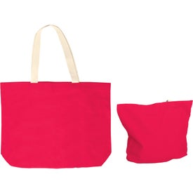 Branded Color Cotton Canvas Tote Bag with Gusset