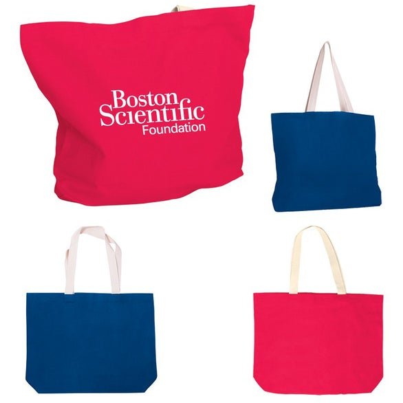 Color Cotton Canvas Tote Bag with Gusset