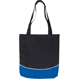 Monogrammed Color Curve Accent Panel Tote Bag
