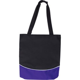 Promotional Color Curve Accent Panel Tote Bag