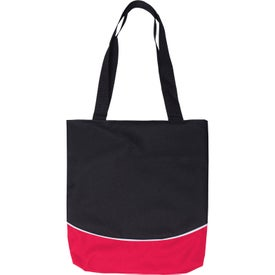 Color Curve Accent Panel Tote Bag for Advertising
