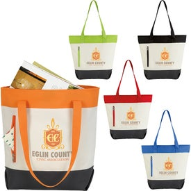 Color Zip Tote Bags