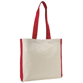 Customized Color Accent Economy Tote Bag