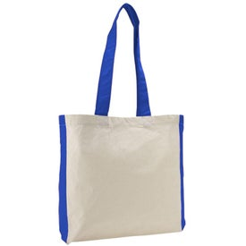 Color Accent Economy Tote Bag with Your Logo