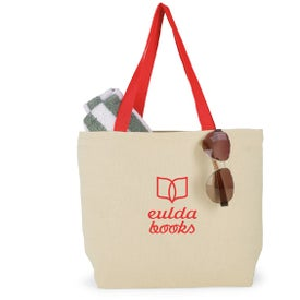 Colored Handle Tote Branded with Your Logo