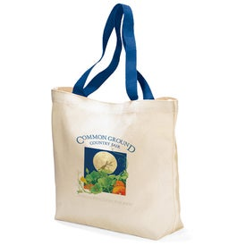 Colored Handle Tote for Promotion