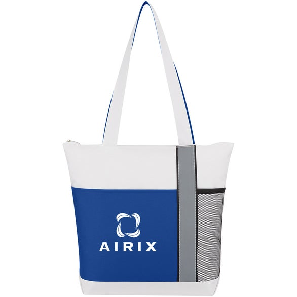 Royal Blue / White / Gray Colormix Tote Bag