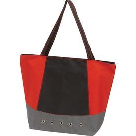 Monogrammed Commuter Tote Bag