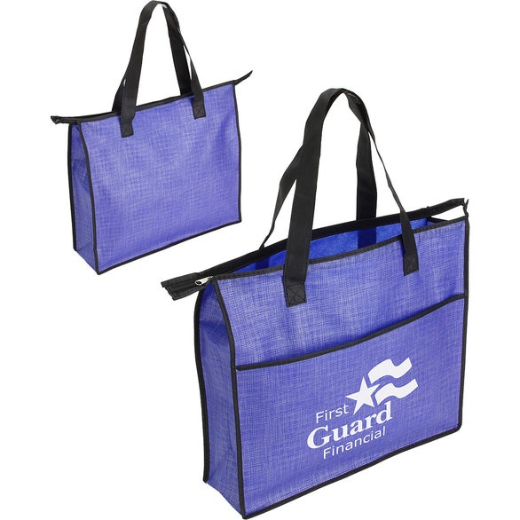 Blue Concourse Heathered Tote Bag