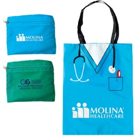 Monogrammed Convertible Scrubs Tote Bag