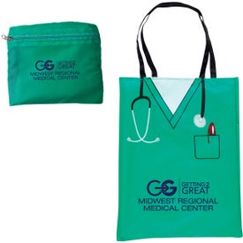 Convertible Scrubs Tote Bag Imprinted with Your Logo