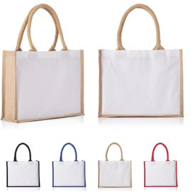Cotton and Jute Junior Tote Bags