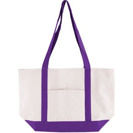 Advertising Cotton Canvas Boat Tote