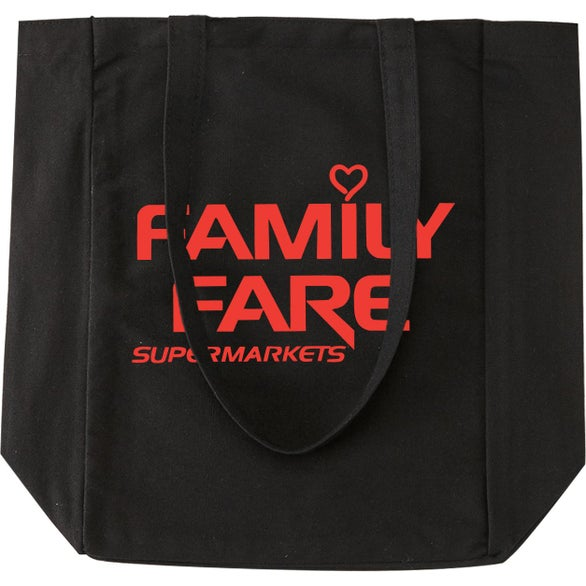 Black Cotton Canvas Everyday Tote Bag