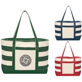 Cotton Canvas Nautical Tote Bags