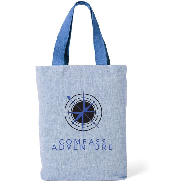 Blue Cotton Chambray Tote Bag