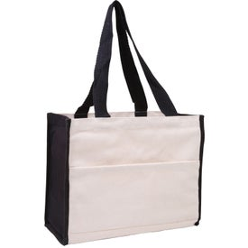 Cotton Gusset Accent Box Tote with Your Slogan