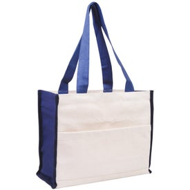 Cotton Gusset Accent Box Tote for Marketing