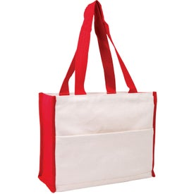 Branded Cotton Gusset Accent Box Tote