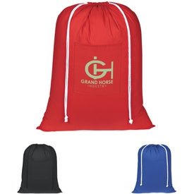 Cotton Laundry Bags (Black, Royal Blue, and Red)