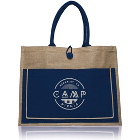 Cotton Pocket Jute Tote Bag