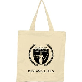 "Cotton Tote Bag (15"" x 16"", Natural, No Quick Ship)"