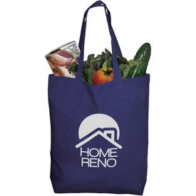 "Cotton Tote Bag (15.75"" x 16.5"" x 3.5"", Black, Red, and Royal Blue, Quick Ship)"