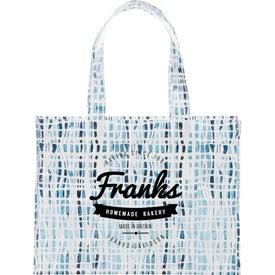 Cross Hatch Laminated Shopper Tote Bag