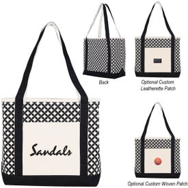 Curved Diamond Canvas Tote Bag